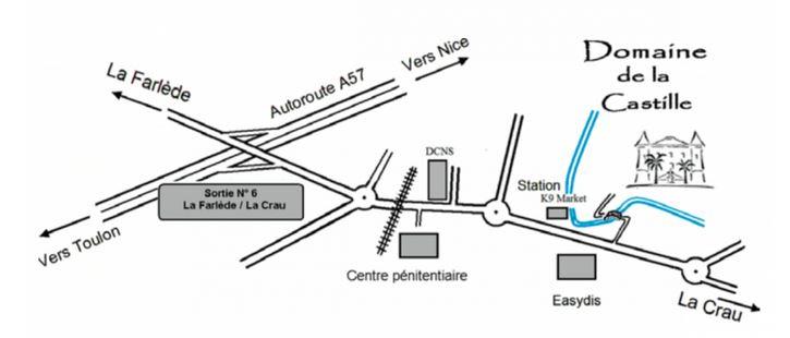 Plan accés Castille